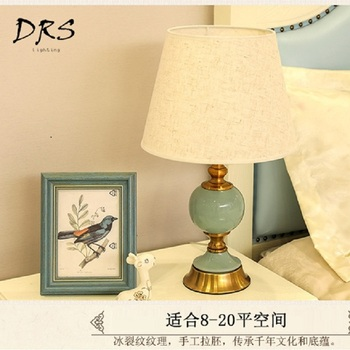 New Chinese Style Ceramic Desk Lamp Modern Creative Living Room Study Room Table Lamp
