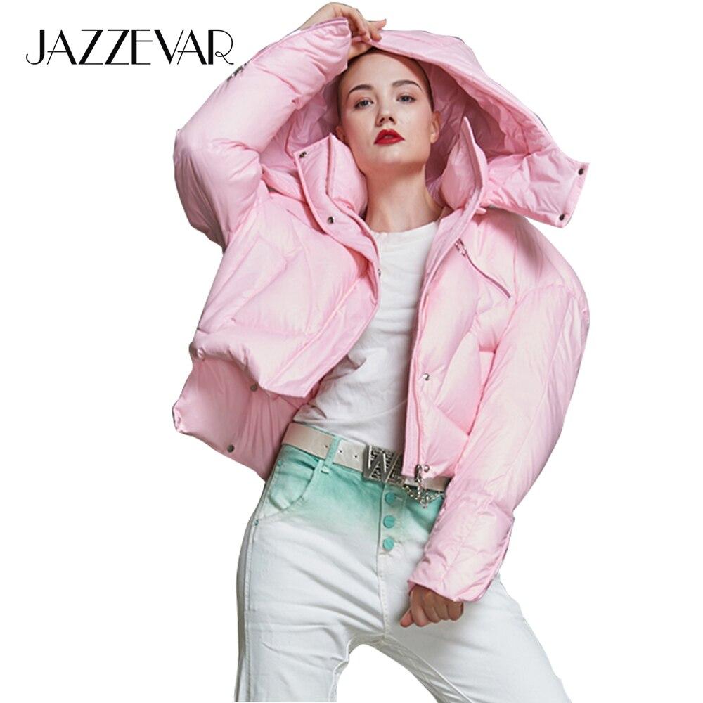 Abajo Con De Las Calle Nueva Andrógino Negro rosado Chaqueta Mujeres Estilo Moda Capucha Ropa Jazzevar Corto 2018 Diseñador Marca Invierno Abrigo waOaAgqz