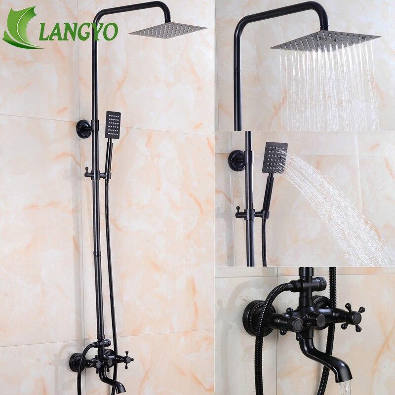 BECOLA salle de bain douche robinet système mural ensemble de douche noir antique laiton robinet kit BR-6005B