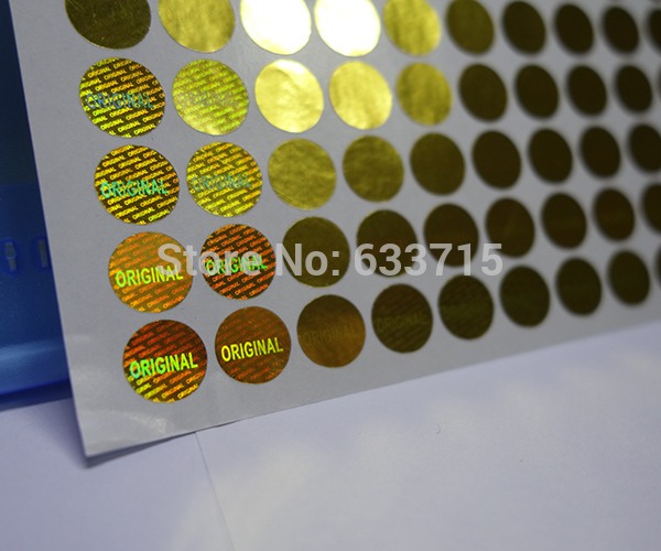 Image 4 - diameter 8mm gold color  , USD 15.6/1500 pieces laser hologram sticker label,warranty seal  versatile ! void if removed-in Stationery Stickers from Office & School Supplies