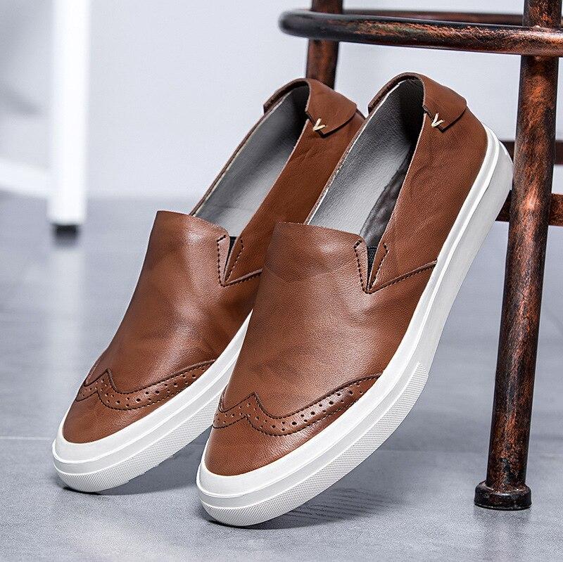 Genuíno Homens Mens Oxford Preto Couro De Designer Respirável Mocassins Confortáveis Sapatos marrom Marrom Artesanal Dirigindo Preto fXE1g