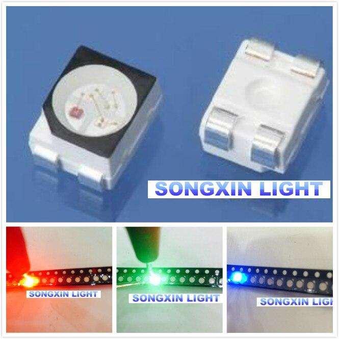 Groothandel 100pcs RGB POWER TOP 1210 3528 SMD SMT PLCC-2 LED Rood Groen Blauw Nieuwe gemeenschappelijke anode