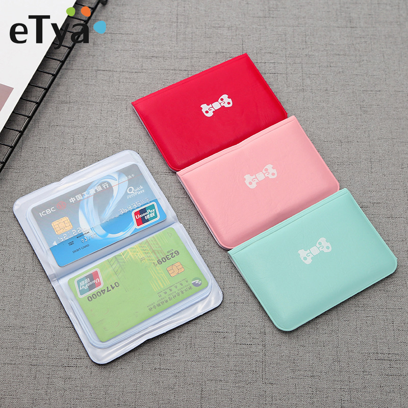 ETya Women Card Holder Business Wallet Credit Card Protector Case Pocket Bag Purse 12 Card Slots