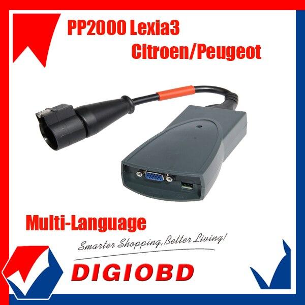 Multi-language PP2000 Lexia3 diagnostic tool lexia 3 Citroen/Peugeot lexia with best price  free shipping