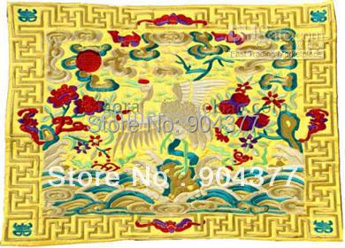 Unusual Extra Large Dinner Party Placemats Designs Rectangle Satin  Embroidered Crane Table Mat L17 X W11 Inch 2pcs/pack Free