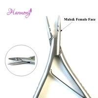 1 stücke Edelstahl Haarverlängerungszangen Männliche und Weibliche gesicht 150G Silivery Weiß Zangen Keratin Loop Haarverlängerungen Werkzeuge