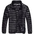 2015 Brand Men Down Jacket 90% Duck Down Feather Winter Parka Coat Black Navy XXXL Men Winter Coat