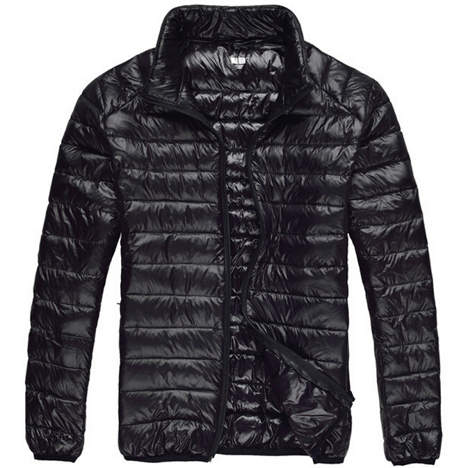 2015 Brand Men Down Jacket 90% Duck Down Feather Winter Parka Coat Black Navy XXXL Men Winter Coat