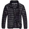 2015 Marca Hombres Abajo Chaqueta 90% Plumón de pato Invierno Parka Coat Navy Negro XXXL de Los Hombres Abrigo de Invierno