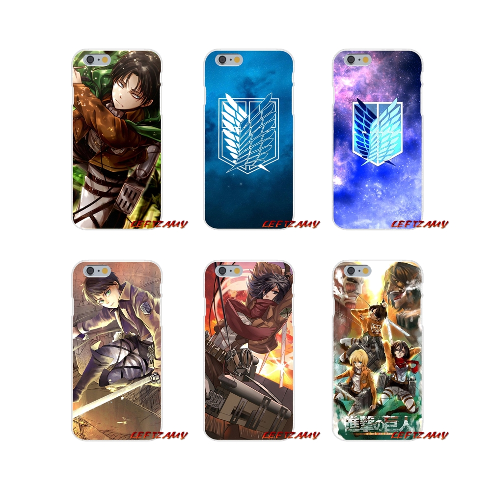 For Samsung Galaxy S3 S4 S5 MINI S6 S7 edge S8 S9 Plus Note 2 3 4 5 8 Anime Attack on Titan wings Logo Mobile Phone Cases Covers