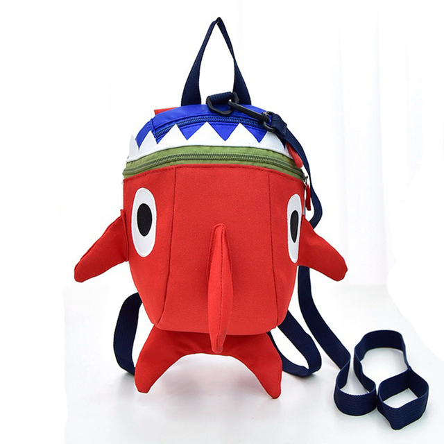 Children Kindergarten School Bag Anti-lost Bags For Boy Little Shark Baby  Backpack 1-5 Year Old boy Child Small Schoolbag WBS458 8d7d1189c81a