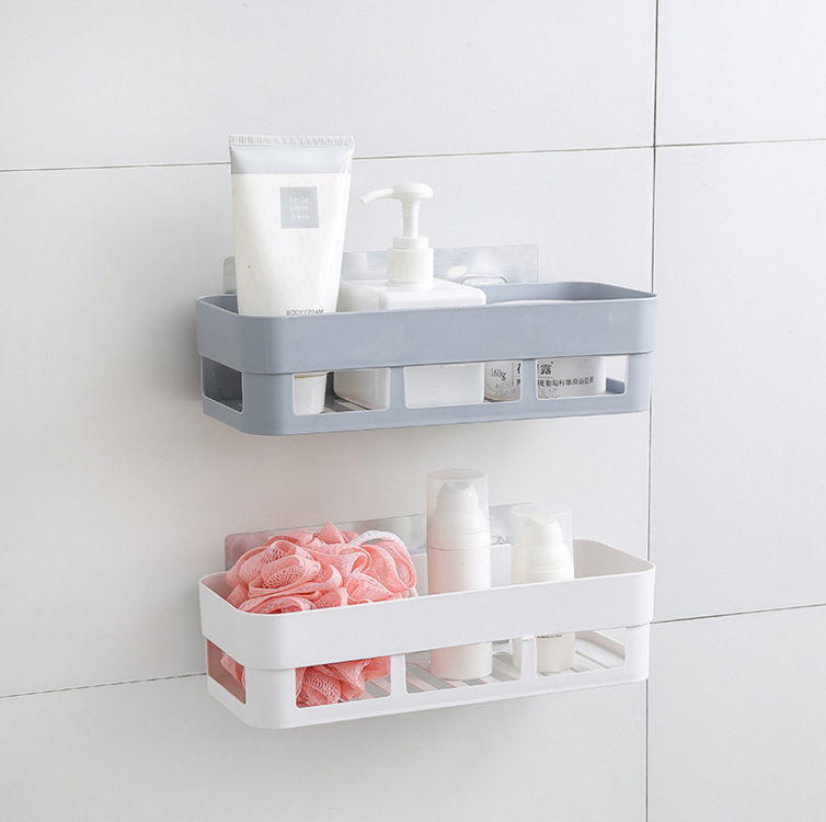 Unikiwi Bathroom Shelf Wall Rack Plastic Shower Caddy Organizer Holder Tray With Suction Cups Lotion Storage.G-0104