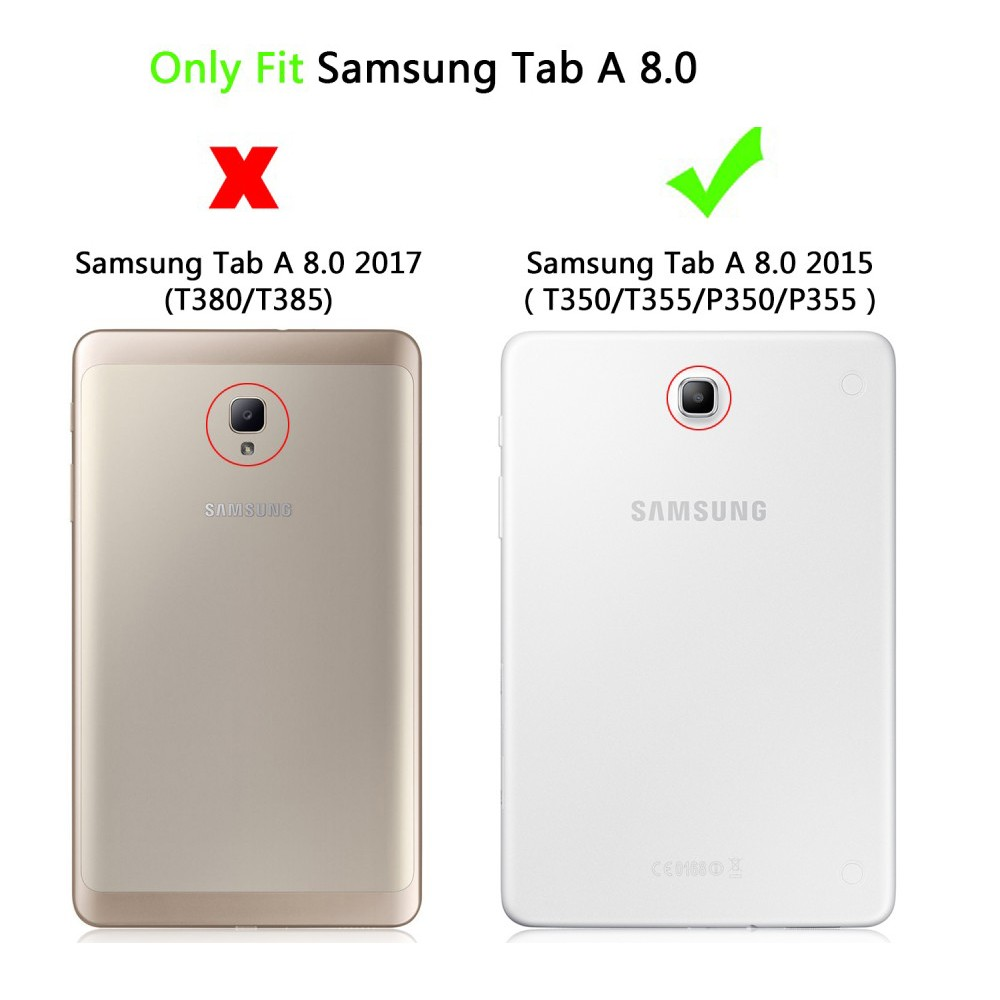 Ağır Hibrid Zırh Sert Kapak Samsung Galaxy Tab Için Bir 8.0 T350 - Tablet Aksesuarları - Fotoğraf 2