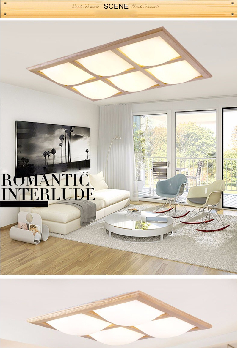 ▻Modern fashion Surface Mounted OAK led ceiling lights for living ...