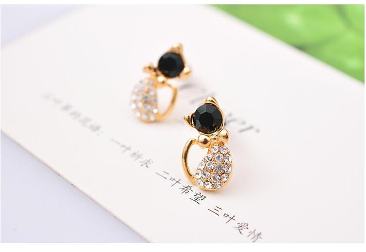 Cat Stud Earrings 2