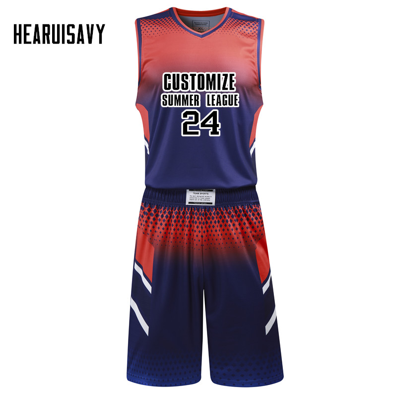 6c34477bef4 Hearuisavy Custom team basketball jersey Comfortable and breathable  sweatshirt. Sleeveless Basketball Uniforms DIY League jersey