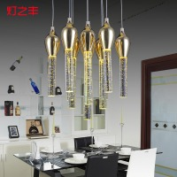 Creative Modern Fashion Bubble Crystal 3 6 10 13 Heads Led Pendant Light For Dining Room