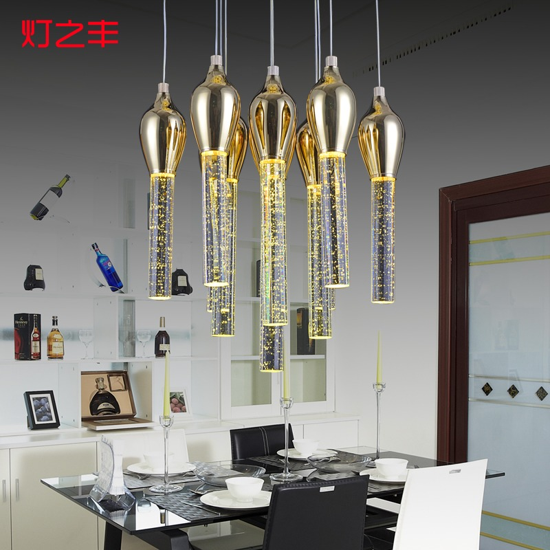 creative modern fashion bubble crystal 3/6/10/13 heads led pendant light for dining room AC 85-265V 1080 modern fashion luxurious rectangle k9 crystal led e14 e12 6 heads pendant light for living room dining room bar deco 2239