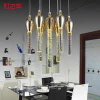 creative modern fashion bubble crystal 3/6/10/13 heads led pendant light for dining room AC 85 265V 1080