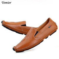 Yomior Man Moccasin Breathable Men S Loafers Designer Flat Soft Leather Shoe Fashion Shoes Luxury Brand