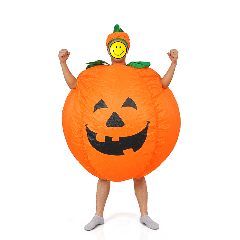Image 2 - Halloween Adult Funny Party Cosplay Pumpkin Costume Halloween Inflatable Pumpkin Costume For Women Men Halloween Party Supplies-in Anime Costumes from Novelty & Special Use