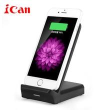 Ican Быстрое Беспроводное Зарядное Устройство Ци Зарядки подставка Для Samsung Galaxy S7 edge/S7/S8/S8 +/S6 край Плюс/Note5
