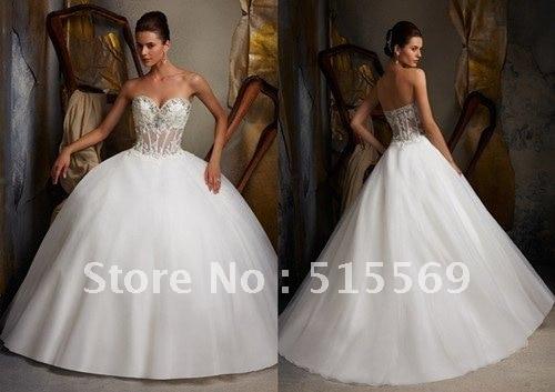 Wedding Dresses Ball Gown Sweetheart: Sexy Big Ball Gown Sweetheart Panel Train Organza Applique