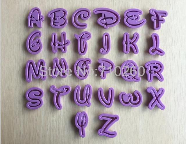 Coupe-gâteau anglais en forme de lettres 26 | Outils de décoration pour gâteau fondant, moule de décoration pour gâteau moules à gâteaux 020173