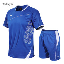 Tracksuit Men M-4XL Summer Hot Sale Men's Sets T Shirts+shorts Two Pieces Sets Casual Tracksuit Male O-Neck Solid Sportswear(China)