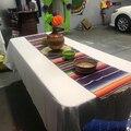 4 cores Íris Partido Mexicano Serape Algodão Corredor Da Tabela Toalha de Mesa Toalha de Mesa Festa de Casamento Caminhos de Mesa Decoração de Casa