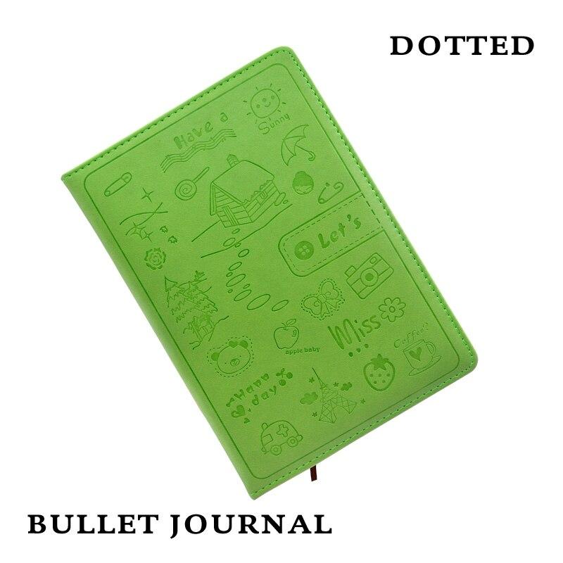 Hard Cover Dotted Candy Color A5 Läderplatta Notebook Elastic Band - Block och anteckningsböcker