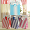 10pcs Folded Paper Gift Bags Vertical Stripes And Dots Printing For Cake Candy Chocolate Gift Holder Bags Lover Classmate Friend