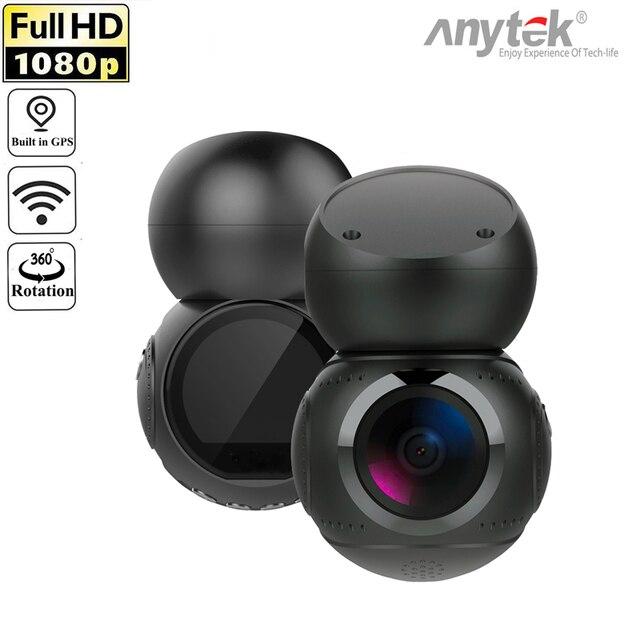 Anytek G21 170 Degree Lens 1080P Full HD NTK96658 WiFi Car DVR Dash Camera Video Recorder Motion Detection GPS Car DashCam