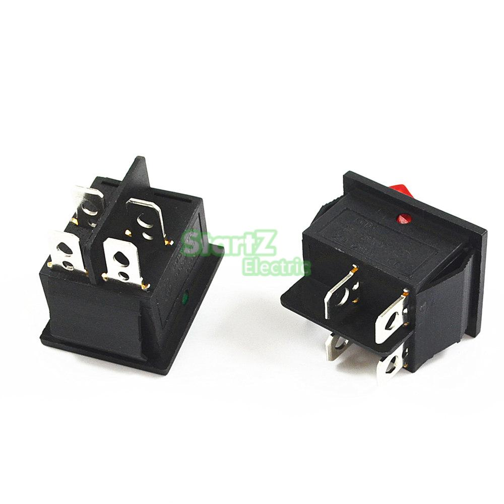 Фиксации кулисный переключатель Мощность переключатель I/O 4 контакта с светильник 16A 250VAC 20A 125VAC KCD4