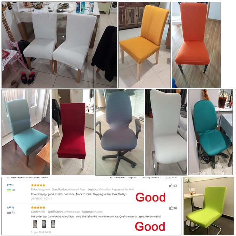 Καθαρό χρώμα Καρέκλες κάλυψης - Αρχική υφάσματα - Φωτογραφία 6