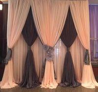 Новинка; Лидер продаж 10ftx10ft 3 слоя льда шелка сцена для свадебной вечеринки фоновые шторы, событие вечерние фоне шторы, душа ребенка