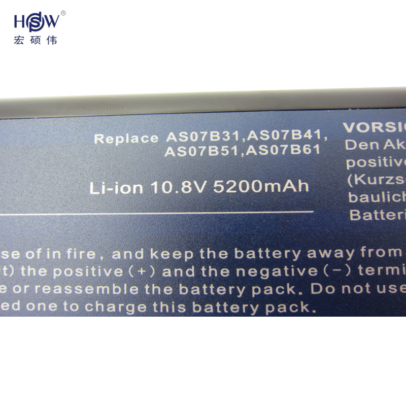 HSW New Laptop Battery for Acer Aspire 5300 5310 5315 5320 5330 5520 5520G 5530 5530G 5535 5710 5710G 5710Z 5715 5715Z 5720 5730 in Laptop Batteries from Computer Office