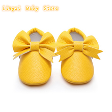 hot deal buy pu baby girls shoes new bow knot cute newborn baby shoes for girls  prewalker first walkers child kids girls shoes