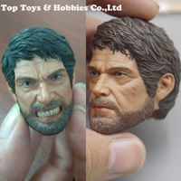 For collection CC TOYS 1/6 Scale The Last of Us Joe Head Carving normal/Angry Version Figure Fit 12'' Solider Figure Male Body