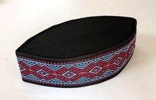 통관 판매 3 개/가방 가방 블랙 고품질 자수 여름 이슬람 모자 남성 아랍 Turban 이슬람 남자 모자