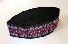 Venta de liquidación, 3 unidades/bolsa, gorra islámica bordada de alta calidad, negra, turbante árabe, musulmán, para hombre