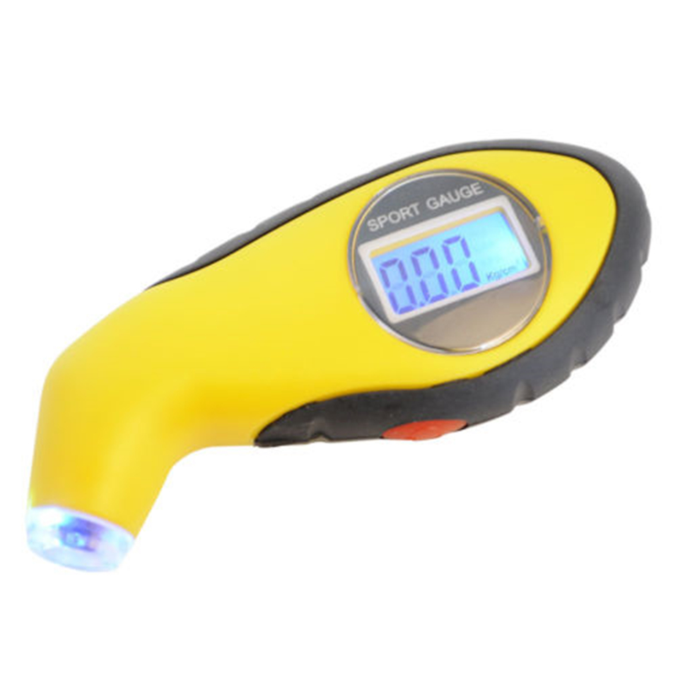 Hot Tyre Air Pressure Gauge Meter Electronic Digital LCD Car Tire Manometer Barometers Tester Tool For Auto Car Motorcycle in Pressure Gauges from Tools