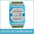6 Channels Analog Signal 4 channels Digital Signal Input and Output Module 6AD/4DI/4DO RS485 Modbus RTU Communication Ethernet