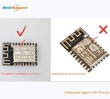 10 adet/grup ESP8266 12 ESP 12 ESP 12E ESP 12F ESP 12S ESP8266 WIFI kablosuz modülü 32Mbit Flash bellek AI THINKER bant ve makara