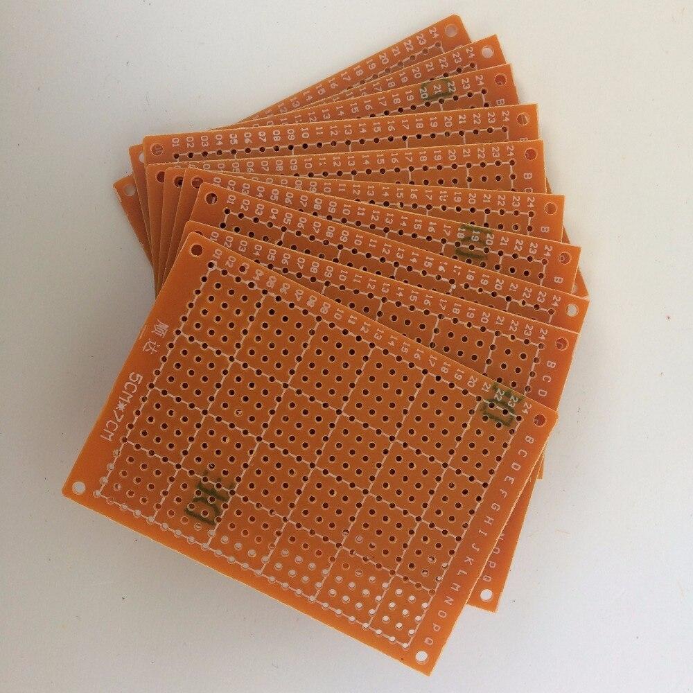 10 Teile/los Diy Prototyp Papier Pcb Universal-experiment Platine 5x7 Cm