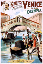 Vintage Performing Circus Poster Venice of to-day at Olympia Classic Canvas Paintings Wall Posters Stickers Home Decor Gift(China)