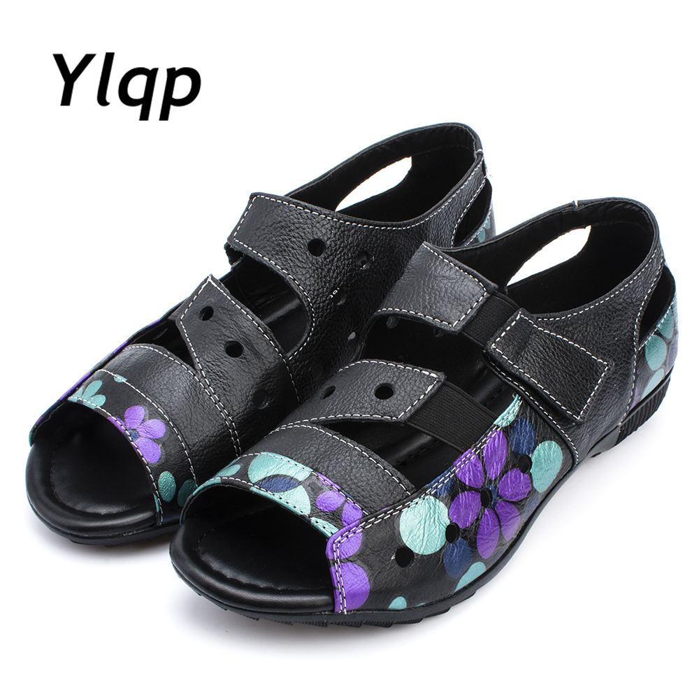 Ylqp Shoes Woman flat shoes Mother Sandals Women 2017 Open Toe Wedges Casual Female Shoes Soft breathable sandalias mujer 2017 summer shoes woman platform sandals women soft leather casual open toe gladiator wedges women shoes zapatos mujer