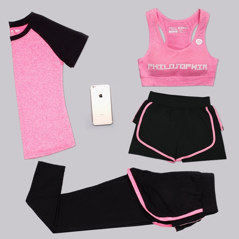 Aipbunny 4 Pieces Yoga Sets 2017 Gym Fitness Women Exercise Activewear Running Suits Plus size XXXL Workout Clothing SportsWear 2