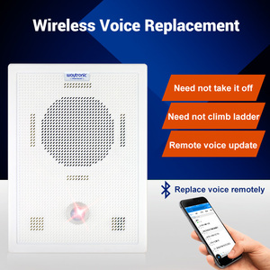 Image 1 - Big Power Motion Sensor Speaker with Bluetooth Wireless Voice Replacement Audio Recordable for Safety Voice Reminder Loud Sound