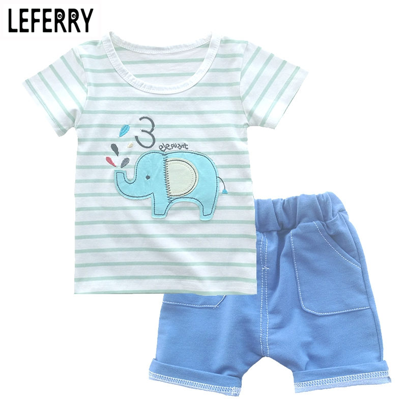 Kids Clothes New Summer Baby Boys Clothing Sets 2PCS T Shirt + Shorts Toddler Boys Clothing Children Outfits Cotton new cotton toddler girls clothing sets kids clothes summer cartoon baby girl t shirt overalls suit costume with suspender shorts